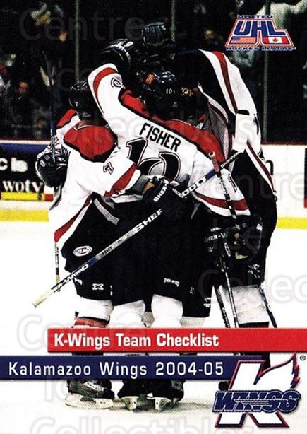 2004-05 Kalamazoo Wings #1 Checklist<br/>1 In Stock - $3.00 each - <a href=https://centericecollectibles.foxycart.com/cart?name=2004-05%20Kalamazoo%20Wings%20%231%20Checklist...&quantity_max=1&price=$3.00&code=699434 class=foxycart> Buy it now! </a>