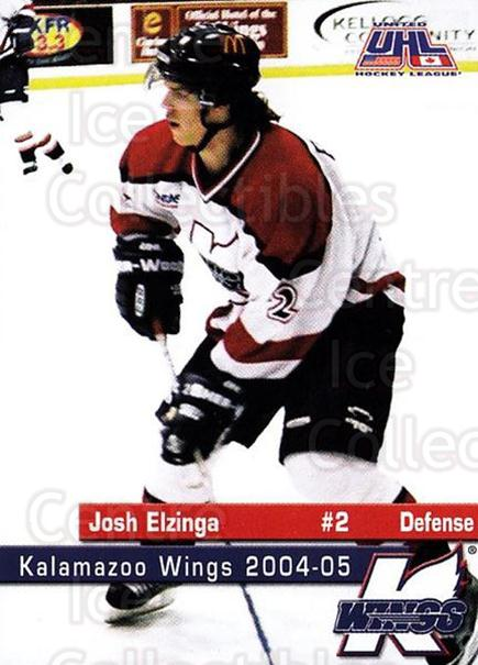 2004-05 Kalamazoo Wings #3 Josh Elzinga<br/>1 In Stock - $3.00 each - <a href=https://centericecollectibles.foxycart.com/cart?name=2004-05%20Kalamazoo%20Wings%20%233%20Josh%20Elzinga...&quantity_max=1&price=$3.00&code=699436 class=foxycart> Buy it now! </a>