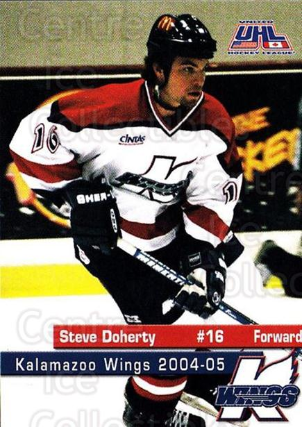 2004-05 Kalamazoo Wings #12 Steve Doherty<br/>1 In Stock - $3.00 each - <a href=https://centericecollectibles.foxycart.com/cart?name=2004-05%20Kalamazoo%20Wings%20%2312%20Steve%20Doherty...&quantity_max=1&price=$3.00&code=699445 class=foxycart> Buy it now! </a>