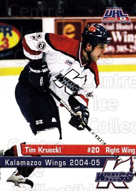 2004-05 Kalamazoo Wings #15 Tim Krueckl<br/>1 In Stock - $3.00 each - <a href=https://centericecollectibles.foxycart.com/cart?name=2004-05%20Kalamazoo%20Wings%20%2315%20Tim%20Krueckl...&quantity_max=1&price=$3.00&code=699448 class=foxycart> Buy it now! </a>