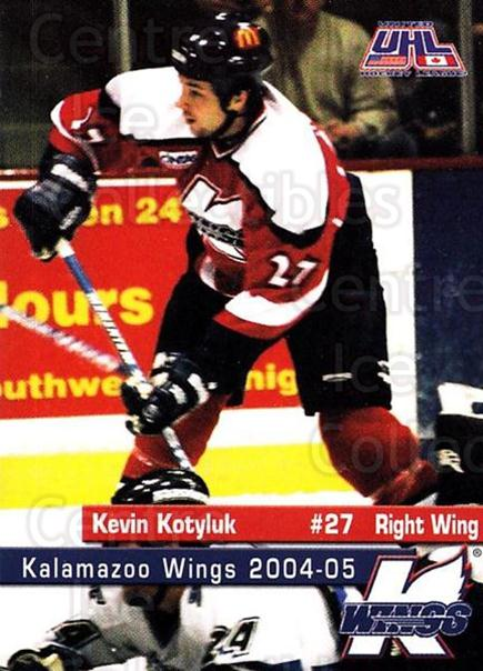 2004-05 Kalamazoo Wings #21 Kevin Kotyluk<br/>1 In Stock - $3.00 each - <a href=https://centericecollectibles.foxycart.com/cart?name=2004-05%20Kalamazoo%20Wings%20%2321%20Kevin%20Kotyluk...&quantity_max=1&price=$3.00&code=699454 class=foxycart> Buy it now! </a>