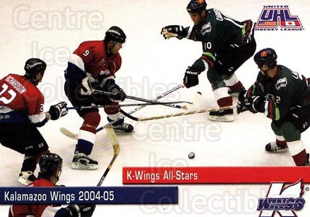2004-05 Kalamazoo Wings #25 All-Stars<br/>1 In Stock - $3.00 each - <a href=https://centericecollectibles.foxycart.com/cart?name=2004-05%20Kalamazoo%20Wings%20%2325%20All-Stars...&quantity_max=1&price=$3.00&code=699458 class=foxycart> Buy it now! </a>