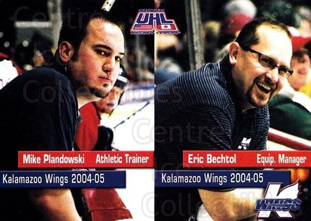 2004-05 Kalamazoo Wings #26 Mike Plandowski, Eric Bechtol<br/>1 In Stock - $3.00 each - <a href=https://centericecollectibles.foxycart.com/cart?name=2004-05%20Kalamazoo%20Wings%20%2326%20Mike%20Plandowski...&quantity_max=1&price=$3.00&code=699459 class=foxycart> Buy it now! </a>