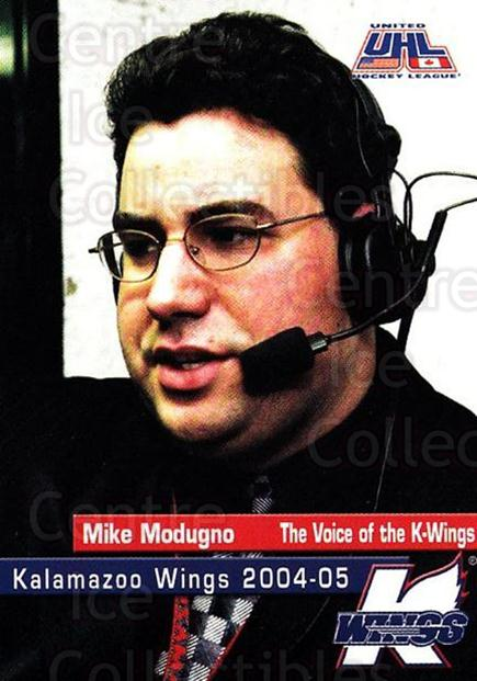 2004-05 Kalamazoo Wings #28 Mike Modugno<br/>1 In Stock - $3.00 each - <a href=https://centericecollectibles.foxycart.com/cart?name=2004-05%20Kalamazoo%20Wings%20%2328%20Mike%20Modugno...&quantity_max=1&price=$3.00&code=699461 class=foxycart> Buy it now! </a>