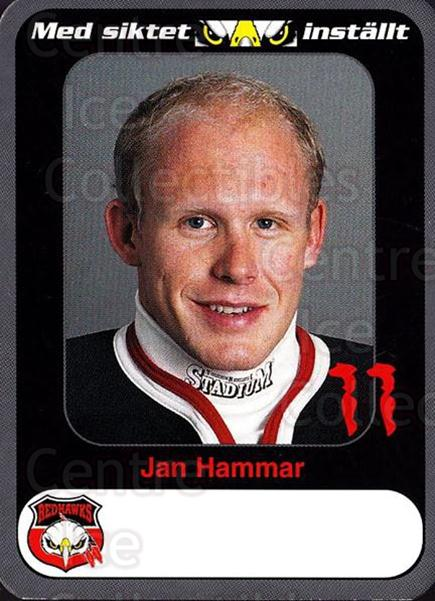 1999-00 Swedish Malmo Redhawks Team Issue #1 Jan Hammar<br/>1 In Stock - $3.00 each - <a href=https://centericecollectibles.foxycart.com/cart?name=1999-00%20Swedish%20Malmo%20Redhawks%20Team%20Issue%20%231%20Jan%20Hammar...&price=$3.00&code=699768 class=foxycart> Buy it now! </a>