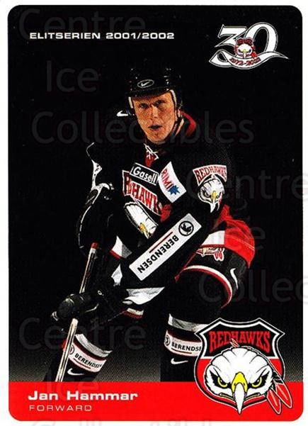 2001-02 Swedish Malmo Redhawks Team Issue #4 Jan Hammar<br/>1 In Stock - $3.00 each - <a href=https://centericecollectibles.foxycart.com/cart?name=2001-02%20Swedish%20Malmo%20Redhawks%20Team%20Issue%20%234%20Jan%20Hammar...&price=$3.00&code=699782 class=foxycart> Buy it now! </a>
