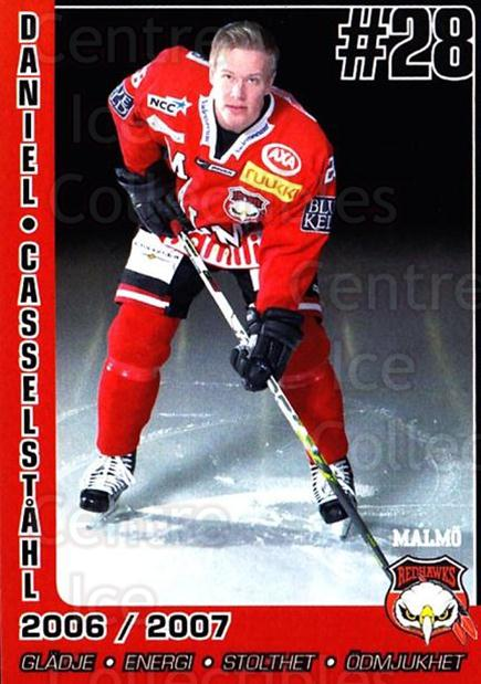 2006-07 Swedish Malmo Redhawks Team Issue #1 Daniel Casselstahl<br/>1 In Stock - $3.00 each - <a href=https://centericecollectibles.foxycart.com/cart?name=2006-07%20Swedish%20Malmo%20Redhawks%20Team%20Issue%20%231%20Daniel%20Casselst...&quantity_max=1&price=$3.00&code=699799 class=foxycart> Buy it now! </a>