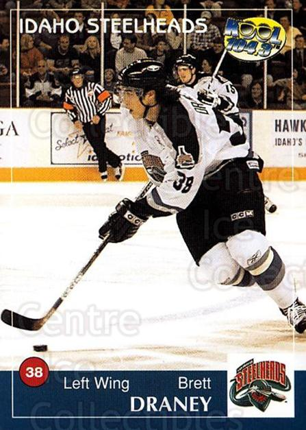 2004-05 Idaho Steelheads #5 Brett Draney<br/>1 In Stock - $3.00 each - <a href=https://centericecollectibles.foxycart.com/cart?name=2004-05%20Idaho%20Steelheads%20%235%20Brett%20Draney...&quantity_max=1&price=$3.00&code=699815 class=foxycart> Buy it now! </a>