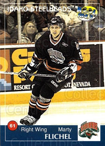 2004-05 Idaho Steelheads #7 Marty Flichel<br/>2 In Stock - $3.00 each - <a href=https://centericecollectibles.foxycart.com/cart?name=2004-05%20Idaho%20Steelheads%20%237%20Marty%20Flichel...&quantity_max=2&price=$3.00&code=699817 class=foxycart> Buy it now! </a>