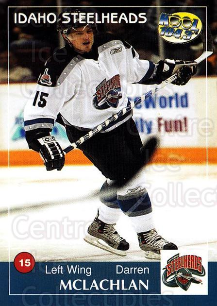 2004-05 Idaho Steelheads #13 Darren McLachlan<br/>1 In Stock - $3.00 each - <a href=https://centericecollectibles.foxycart.com/cart?name=2004-05%20Idaho%20Steelheads%20%2313%20Darren%20McLachla...&quantity_max=1&price=$3.00&code=699823 class=foxycart> Buy it now! </a>