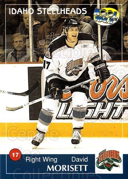 2004-05 Idaho Steelheads #15 David Morisset<br/>1 In Stock - $3.00 each - <a href=https://centericecollectibles.foxycart.com/cart?name=2004-05%20Idaho%20Steelheads%20%2315%20David%20Morisset...&quantity_max=1&price=$3.00&code=699825 class=foxycart> Buy it now! </a>
