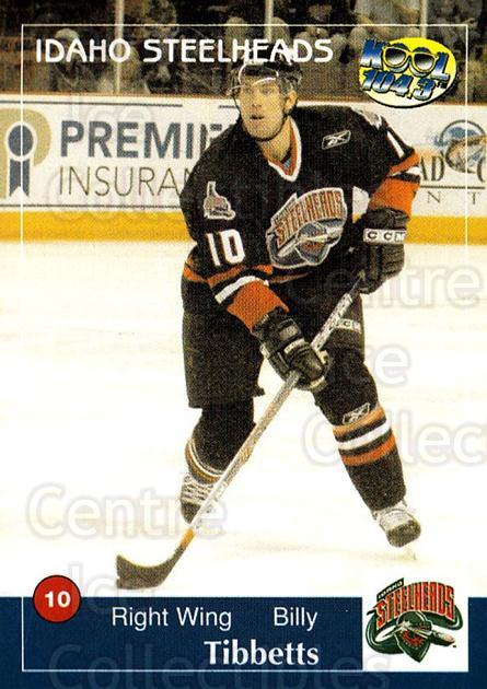 2004-05 Idaho Steelheads #20 Billy Tibbetts<br/>1 In Stock - $3.00 each - <a href=https://centericecollectibles.foxycart.com/cart?name=2004-05%20Idaho%20Steelheads%20%2320%20Billy%20Tibbetts...&quantity_max=1&price=$3.00&code=699830 class=foxycart> Buy it now! </a>