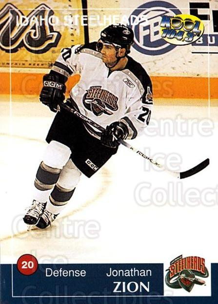 2004-05 Idaho Steelheads #23 Jonathan Zion<br/>2 In Stock - $3.00 each - <a href=https://centericecollectibles.foxycart.com/cart?name=2004-05%20Idaho%20Steelheads%20%2323%20Jonathan%20Zion...&quantity_max=2&price=$3.00&code=699833 class=foxycart> Buy it now! </a>