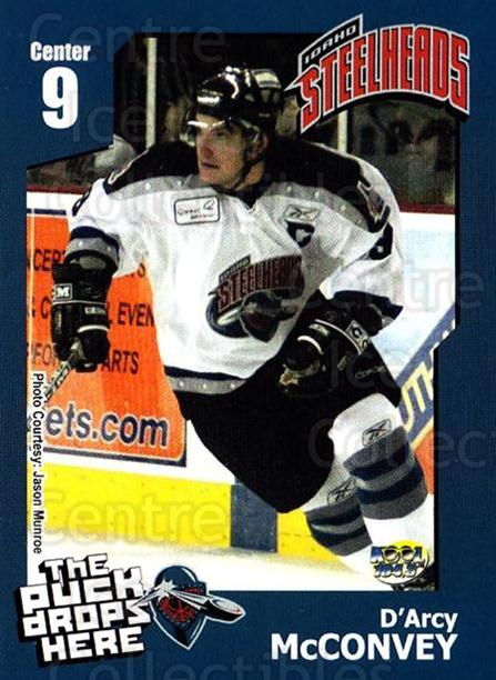 2005-06 Idaho Steelheads #15 D'Arcy McConvey<br/>1 In Stock - $3.00 each - <a href=https://centericecollectibles.foxycart.com/cart?name=2005-06%20Idaho%20Steelheads%20%2315%20D'Arcy%20McConvey...&quantity_max=1&price=$3.00&code=699847 class=foxycart> Buy it now! </a>