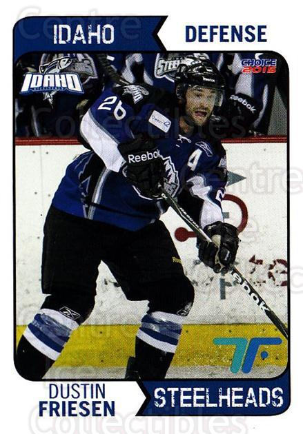 2013-14 Idaho Steelheads Playoff #15 Dustin Friesen<br/>1 In Stock - $3.00 each - <a href=https://centericecollectibles.foxycart.com/cart?name=2013-14%20Idaho%20Steelheads%20Playoff%20%2315%20Dustin%20Friesen...&quantity_max=1&price=$3.00&code=699867 class=foxycart> Buy it now! </a>