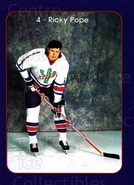 1993-94 Arizona Icecats #4 Ricky Pope<br/>1 In Stock - $3.00 each - <a href=https://centericecollectibles.foxycart.com/cart?name=1993-94%20Arizona%20Icecats%20%234%20Ricky%20Pope...&quantity_max=1&price=$3.00&code=699912 class=foxycart> Buy it now! </a>