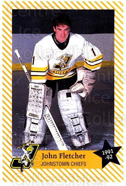 1991-92 Johnstown Chiefs #3 John Fletcher<br/>1 In Stock - $3.00 each - <a href=https://centericecollectibles.foxycart.com/cart?name=1991-92%20Johnstown%20Chiefs%20%233%20John%20Fletcher...&quantity_max=1&price=$3.00&code=699931 class=foxycart> Buy it now! </a>