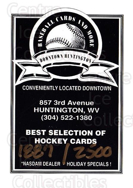 1993-94 Huntington Blizzard #1 Header Card<br/>1 In Stock - $3.00 each - <a href=https://centericecollectibles.foxycart.com/cart?name=1993-94%20Huntington%20Blizzard%20%231%20Header%20Card...&price=$3.00&code=699992 class=foxycart> Buy it now! </a>