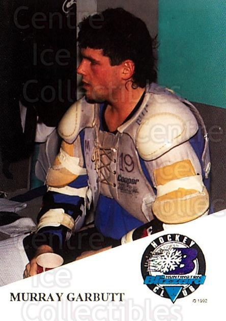 1993-94 Huntington Blizzard #11 Murray Garbutt<br/>1 In Stock - $3.00 each - <a href=https://centericecollectibles.foxycart.com/cart?name=1993-94%20Huntington%20Blizzard%20%2311%20Murray%20Garbutt...&quantity_max=1&price=$3.00&code=700002 class=foxycart> Buy it now! </a>