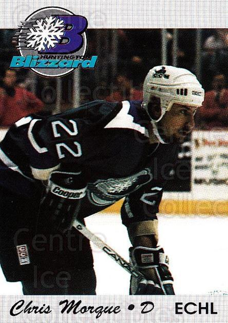 1994-95 Huntington Blizzard #17 Chris Morque<br/>1 In Stock - $3.00 each - <a href=https://centericecollectibles.foxycart.com/cart?name=1994-95%20Huntington%20Blizzard%20%2317%20Chris%20Morque...&quantity_max=1&price=$3.00&code=700035 class=foxycart> Buy it now! </a>