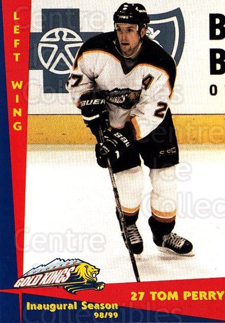 1998-99 Colorado Gold Kings #17 Tom Perry<br/>1 In Stock - $3.00 each - <a href=https://centericecollectibles.foxycart.com/cart?name=1998-99%20Colorado%20Gold%20Kings%20%2317%20Tom%20Perry...&quantity_max=1&price=$3.00&code=700067 class=foxycart> Buy it now! </a>