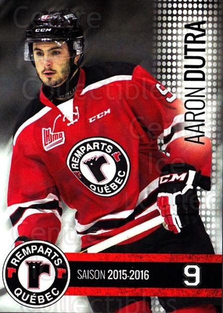 2015-16 Quebec Remparts #2 Aaron Dutra<br/>1 In Stock - $3.00 each - <a href=https://centericecollectibles.foxycart.com/cart?name=2015-16%20Quebec%20Remparts%20%232%20Aaron%20Dutra...&price=$3.00&code=700100 class=foxycart> Buy it now! </a>
