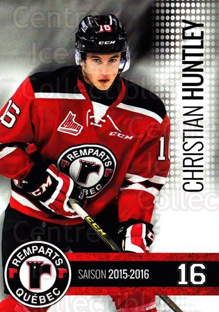 2015-16 Quebec Remparts #5 Christian Huntley<br/>1 In Stock - $3.00 each - <a href=https://centericecollectibles.foxycart.com/cart?name=2015-16%20Quebec%20Remparts%20%235%20Christian%20Huntl...&price=$3.00&code=700103 class=foxycart> Buy it now! </a>