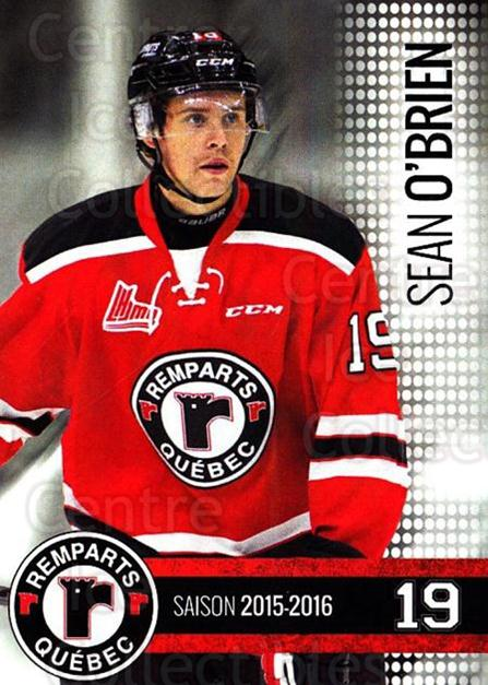 2015-16 Quebec Remparts #8 Sean O'Brien<br/>1 In Stock - $3.00 each - <a href=https://centericecollectibles.foxycart.com/cart?name=2015-16%20Quebec%20Remparts%20%238%20Sean%20O'Brien...&price=$3.00&code=700106 class=foxycart> Buy it now! </a>