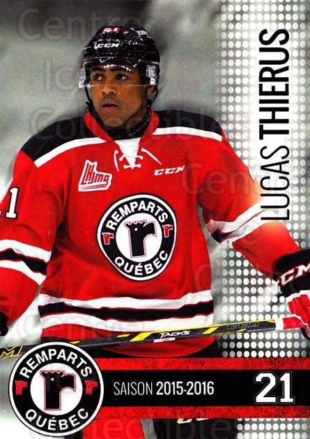 2015-16 Quebec Remparts #9 Lucas Thierus<br/>1 In Stock - $3.00 each - <a href=https://centericecollectibles.foxycart.com/cart?name=2015-16%20Quebec%20Remparts%20%239%20Lucas%20Thierus...&price=$3.00&code=700107 class=foxycart> Buy it now! </a>