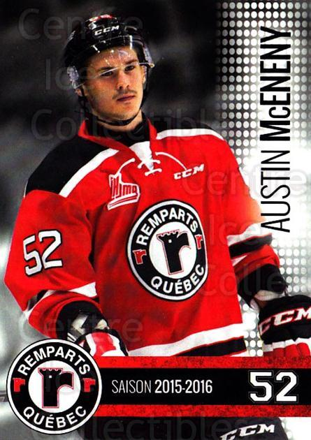 2015-16 Quebec Remparts #19 Austin McEneny<br/>1 In Stock - $3.00 each - <a href=https://centericecollectibles.foxycart.com/cart?name=2015-16%20Quebec%20Remparts%20%2319%20Austin%20McEneny...&price=$3.00&code=700117 class=foxycart> Buy it now! </a>