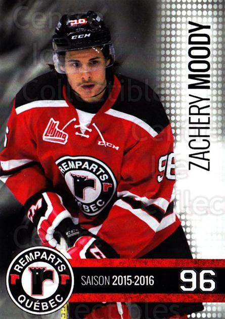 2015-16 Quebec Remparts #25 Zachery Moody<br/>1 In Stock - $3.00 each - <a href=https://centericecollectibles.foxycart.com/cart?name=2015-16%20Quebec%20Remparts%20%2325%20Zachery%20Moody...&price=$3.00&code=700123 class=foxycart> Buy it now! </a>