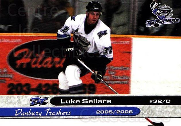 2005-06 Danbury Trashers #21 Luke Sellars<br/>1 In Stock - $3.00 each - <a href=https://centericecollectibles.foxycart.com/cart?name=2005-06%20Danbury%20Trashers%20%2321%20Luke%20Sellars...&quantity_max=1&price=$3.00&code=700145 class=foxycart> Buy it now! </a>