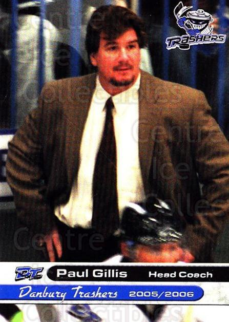 2005-06 Danbury Trashers #26 Paul Gillis<br/>1 In Stock - $3.00 each - <a href=https://centericecollectibles.foxycart.com/cart?name=2005-06%20Danbury%20Trashers%20%2326%20Paul%20Gillis...&quantity_max=1&price=$3.00&code=700150 class=foxycart> Buy it now! </a>
