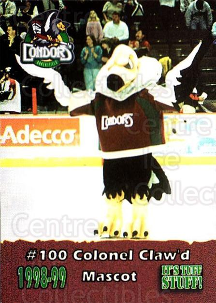 1998-99 Bakersfield Condors #24 Mascot<br/>3 In Stock - $3.00 each - <a href=https://centericecollectibles.foxycart.com/cart?name=1998-99%20Bakersfield%20Condors%20%2324%20Mascot...&quantity_max=3&price=$3.00&code=700179 class=foxycart> Buy it now! </a>