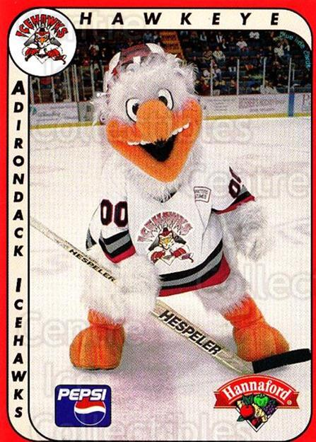 1999-00 Adirondack IceHawks #25 Mascot<br/>2 In Stock - $3.00 each - <a href=https://centericecollectibles.foxycart.com/cart?name=1999-00%20Adirondack%20IceHawks%20%2325%20Mascot...&quantity_max=2&price=$3.00&code=700296 class=foxycart> Buy it now! </a>