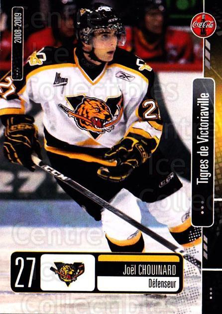 2008-09 Victoriaville Tigres #4 Joel Chouinard<br/>1 In Stock - $3.00 each - <a href=https://centericecollectibles.foxycart.com/cart?name=2008-09%20Victoriaville%20Tigres%20%234%20Joel%20Chouinard...&quantity_max=1&price=$3.00&code=700358 class=foxycart> Buy it now! </a>