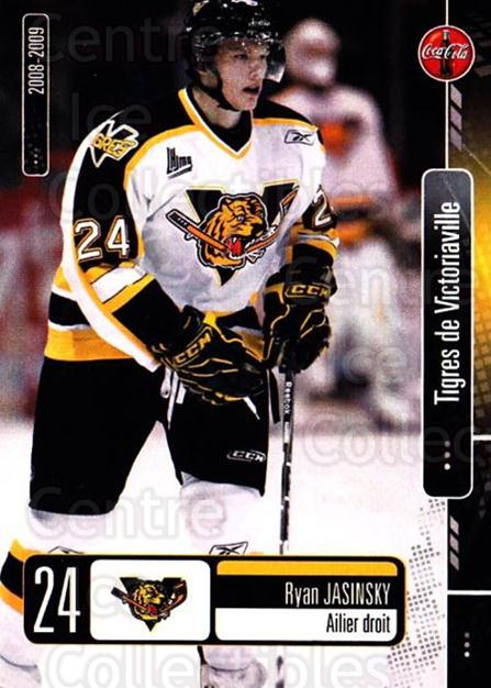 2008-09 Victoriaville Tigres #9 Ryan Jasinsky<br/>1 In Stock - $3.00 each - <a href=https://centericecollectibles.foxycart.com/cart?name=2008-09%20Victoriaville%20Tigres%20%239%20Ryan%20Jasinsky...&quantity_max=1&price=$3.00&code=700363 class=foxycart> Buy it now! </a>