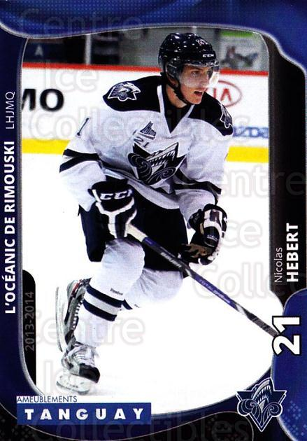 2013-14 Rimouski Oceanic #9 Nicolas Hebert<br/>2 In Stock - $3.00 each - <a href=https://centericecollectibles.foxycart.com/cart?name=2013-14%20Rimouski%20Oceanic%20%239%20Nicolas%20Hebert...&quantity_max=2&price=$3.00&code=700386 class=foxycart> Buy it now! </a>