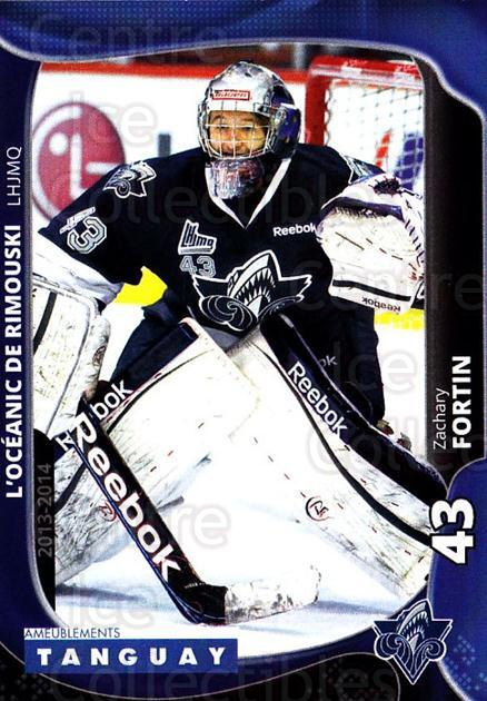 2013-14 Rimouski Oceanic #15 Zachary Fortin<br/>2 In Stock - $3.00 each - <a href=https://centericecollectibles.foxycart.com/cart?name=2013-14%20Rimouski%20Oceanic%20%2315%20Zachary%20Fortin...&quantity_max=2&price=$3.00&code=700392 class=foxycart> Buy it now! </a>