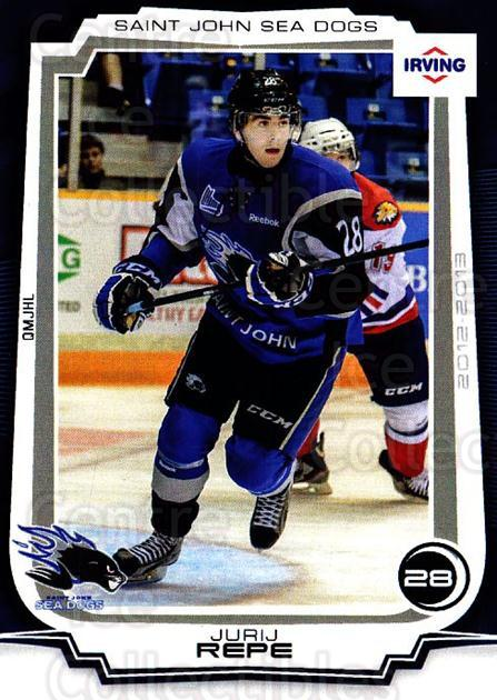 2012-13 Saint John Sea Dogs #4 Jurij Repe<br/>1 In Stock - $3.00 each - <a href=https://centericecollectibles.foxycart.com/cart?name=2012-13%20Saint%20John%20Sea%20Dogs%20%234%20Jurij%20Repe...&quantity_max=1&price=$3.00&code=700404 class=foxycart> Buy it now! </a>