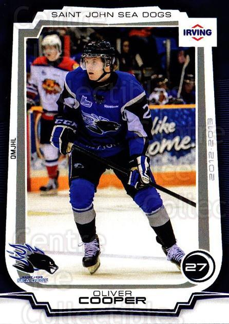 2012-13 Saint John Sea Dogs #5 Oliver Cooper<br/>1 In Stock - $3.00 each - <a href=https://centericecollectibles.foxycart.com/cart?name=2012-13%20Saint%20John%20Sea%20Dogs%20%235%20Oliver%20Cooper...&quantity_max=1&price=$3.00&code=700405 class=foxycart> Buy it now! </a>