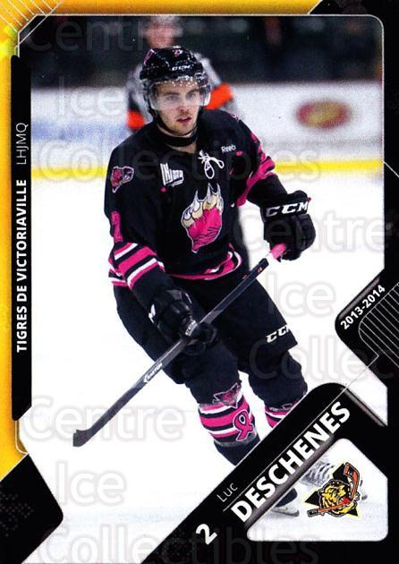 2013-14 Victoriaville Tigres #1 Luc Deschenes<br/>2 In Stock - $3.00 each - <a href=https://centericecollectibles.foxycart.com/cart?name=2013-14%20Victoriaville%20Tigres%20%231%20Luc%20Deschenes...&quantity_max=2&price=$3.00&code=700425 class=foxycart> Buy it now! </a>