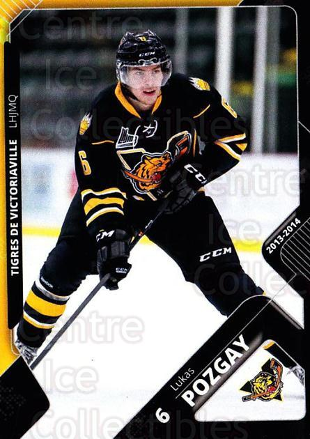 2013-14 Victoriaville Tigres #4 Lukas Pozgay<br/>2 In Stock - $3.00 each - <a href=https://centericecollectibles.foxycart.com/cart?name=2013-14%20Victoriaville%20Tigres%20%234%20Lukas%20Pozgay...&quantity_max=2&price=$3.00&code=700428 class=foxycart> Buy it now! </a>