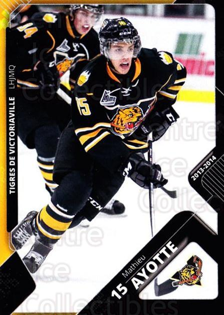 2013-14 Victoriaville Tigres #7 Mathieu Ayotte<br/>2 In Stock - $3.00 each - <a href=https://centericecollectibles.foxycart.com/cart?name=2013-14%20Victoriaville%20Tigres%20%237%20Mathieu%20Ayotte...&quantity_max=2&price=$3.00&code=700431 class=foxycart> Buy it now! </a>