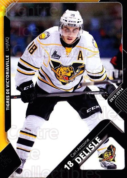 2013-14 Victoriaville Tigres #9 Carl-Antoine Delisle<br/>2 In Stock - $3.00 each - <a href=https://centericecollectibles.foxycart.com/cart?name=2013-14%20Victoriaville%20Tigres%20%239%20Carl-Antoine%20De...&quantity_max=2&price=$3.00&code=700433 class=foxycart> Buy it now! </a>