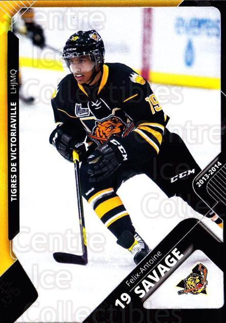 2013-14 Victoriaville Tigres #10 Felix-Antoine Savage<br/>2 In Stock - $3.00 each - <a href=https://centericecollectibles.foxycart.com/cart?name=2013-14%20Victoriaville%20Tigres%20%2310%20Felix-Antoine%20S...&quantity_max=2&price=$3.00&code=700434 class=foxycart> Buy it now! </a>