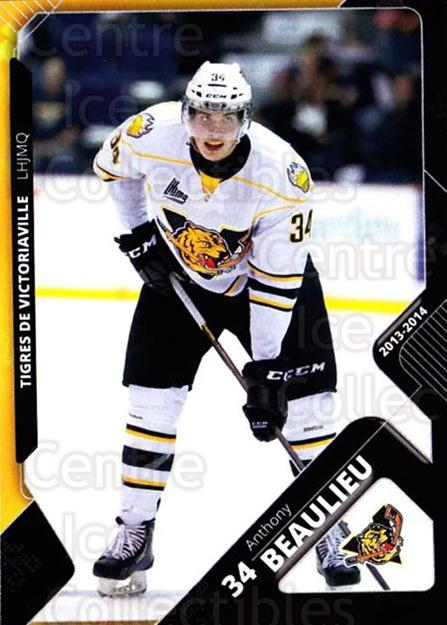 2013-14 Victoriaville Tigres #18 Anthony Beaulieu<br/>2 In Stock - $3.00 each - <a href=https://centericecollectibles.foxycart.com/cart?name=2013-14%20Victoriaville%20Tigres%20%2318%20Anthony%20Beaulie...&quantity_max=2&price=$3.00&code=700442 class=foxycart> Buy it now! </a>