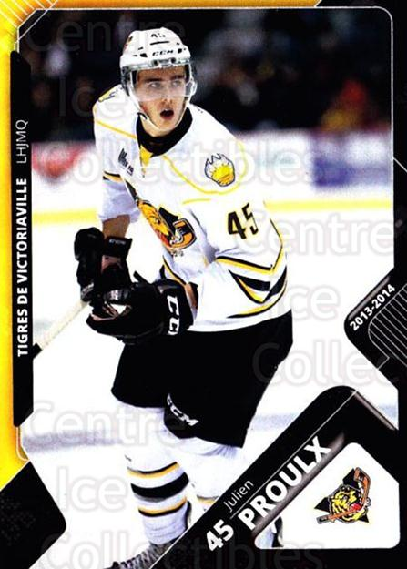 2013-14 Victoriaville Tigres #20 Julien Proulx<br/>1 In Stock - $3.00 each - <a href=https://centericecollectibles.foxycart.com/cart?name=2013-14%20Victoriaville%20Tigres%20%2320%20Julien%20Proulx...&quantity_max=1&price=$3.00&code=700444 class=foxycart> Buy it now! </a>