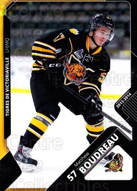 2013-14 Victoriaville Tigres #23 Matthew Boudreau<br/>2 In Stock - $3.00 each - <a href=https://centericecollectibles.foxycart.com/cart?name=2013-14%20Victoriaville%20Tigres%20%2323%20Matthew%20Boudrea...&quantity_max=2&price=$3.00&code=700447 class=foxycart> Buy it now! </a>