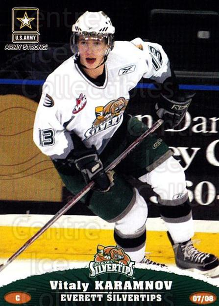 2007-08 Everett Silvertips #17 Vitali Karamnov<br/>3 In Stock - $3.00 each - <a href=https://centericecollectibles.foxycart.com/cart?name=2007-08%20Everett%20Silvertips%20%2317%20Vitali%20Karamnov...&price=$3.00&code=700629 class=foxycart> Buy it now! </a>